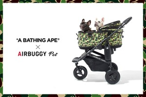 A BATHING APE×AIRBUGGY PETのペットカートが登場 画像