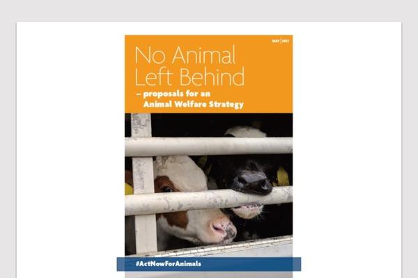 「いかなる動物も取り残さない」という意味のタイトルがついた冊子