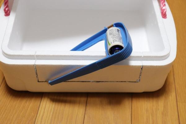 ねこDIY:保冷容器でねこちぐらを作る
