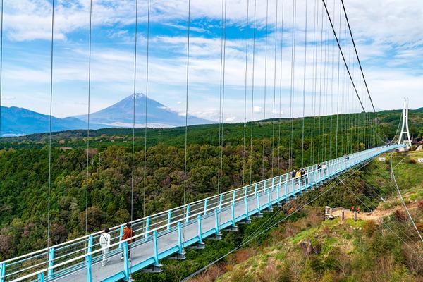 日本一の長さを誇る歩行者専用吊橋