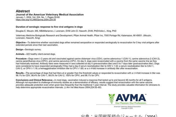 大手製薬メーカーが検証に使用している獣医学論文は米国獣医師会が公表