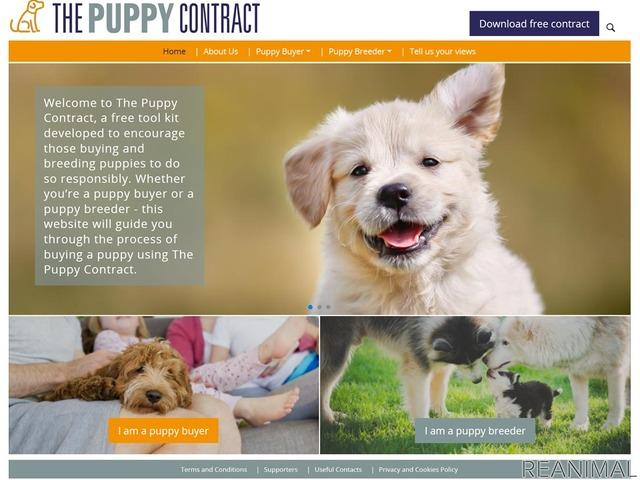 「子犬契約書」はウェブサイトからダウンロード可能